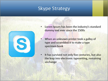 Couple Sitting In Field PowerPoint Templates - Slide 8