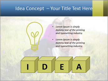 Couple Sitting In Field PowerPoint Templates - Slide 80