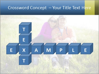 Couple Sitting In Field PowerPoint Templates - Slide 82