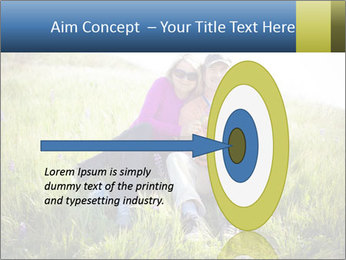 Couple Sitting In Field PowerPoint Templates - Slide 83