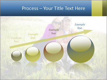 Couple Sitting In Field PowerPoint Templates - Slide 87