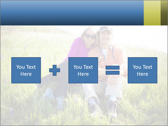 Couple Sitting In Field PowerPoint Templates - Slide 95