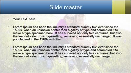 Couple Sitting In Field PowerPoint Template - Slide 2