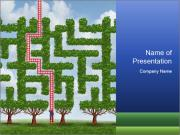 Grass Maze PowerPoint Templates