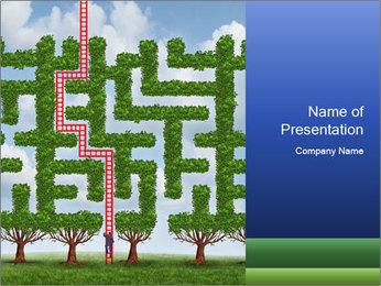 Grass Maze PowerPoint Template - Slide 1