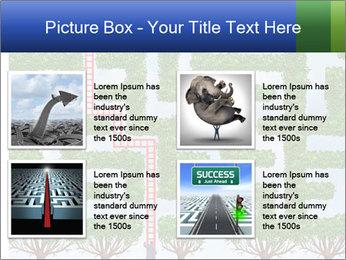 Grass Maze PowerPoint Template - Slide 14