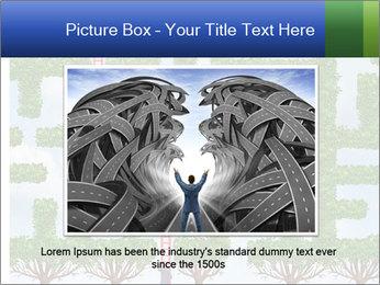 Grass Maze PowerPoint Template - Slide 16