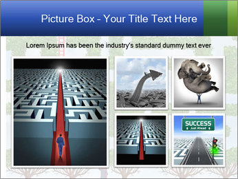 Grass Maze PowerPoint Template - Slide 19