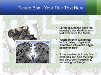 Grass Maze PowerPoint Template - Slide 20
