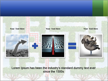 Grass Maze PowerPoint Template - Slide 22