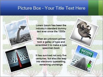 Grass Maze PowerPoint Template - Slide 24
