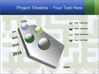 Grass Maze PowerPoint Template - Slide 26