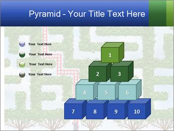 Grass Maze PowerPoint Template - Slide 31
