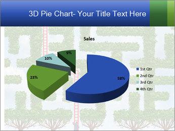 Grass Maze PowerPoint Template - Slide 35