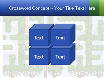 Grass Maze PowerPoint Template - Slide 39