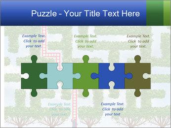 Grass Maze PowerPoint Template - Slide 41