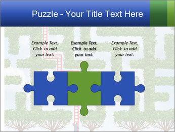 Grass Maze PowerPoint Template - Slide 42