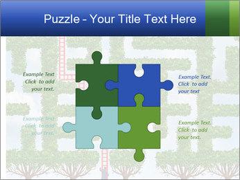 Grass Maze PowerPoint Template - Slide 43