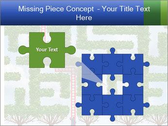 Grass Maze PowerPoint Template - Slide 45