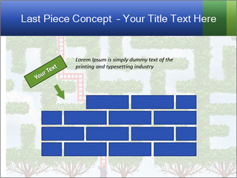Grass Maze PowerPoint Template - Slide 46