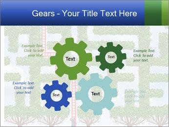 Grass Maze PowerPoint Template - Slide 47