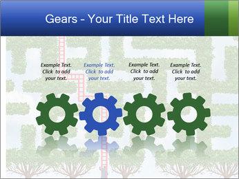 Grass Maze PowerPoint Template - Slide 48