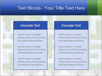 Grass Maze PowerPoint Template - Slide 57