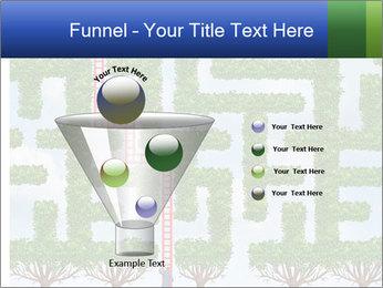 Grass Maze PowerPoint Template - Slide 63