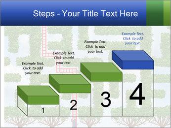 Grass Maze PowerPoint Template - Slide 64