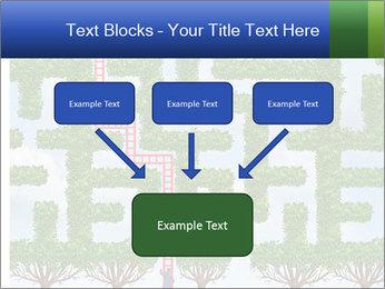 Grass Maze PowerPoint Template - Slide 70