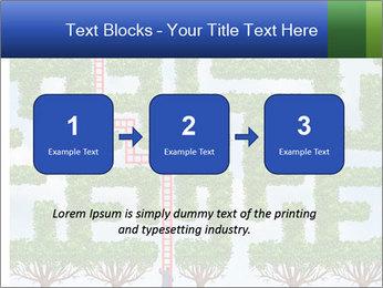Grass Maze PowerPoint Template - Slide 71