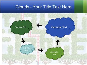 Grass Maze PowerPoint Template - Slide 72