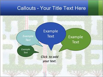 Grass Maze PowerPoint Template - Slide 73