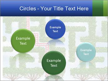 Grass Maze PowerPoint Template - Slide 77