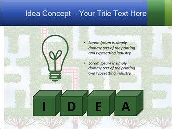 Grass Maze PowerPoint Template - Slide 80