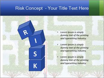 Grass Maze PowerPoint Template - Slide 81