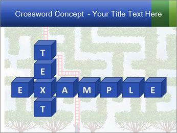 Grass Maze PowerPoint Template - Slide 82