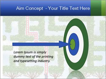 Grass Maze PowerPoint Template - Slide 83