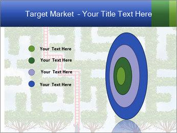 Grass Maze PowerPoint Template - Slide 84