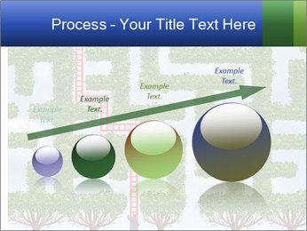 Grass Maze PowerPoint Template - Slide 87