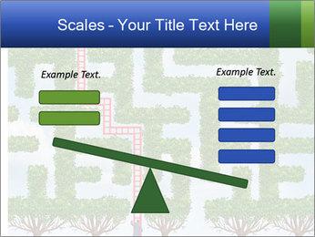 Grass Maze PowerPoint Template - Slide 89