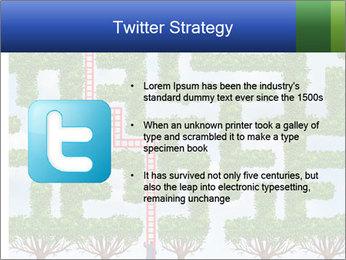 Grass Maze PowerPoint Template - Slide 9