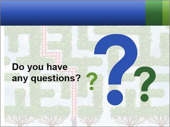 Grass Maze PowerPoint Template - Slide 96