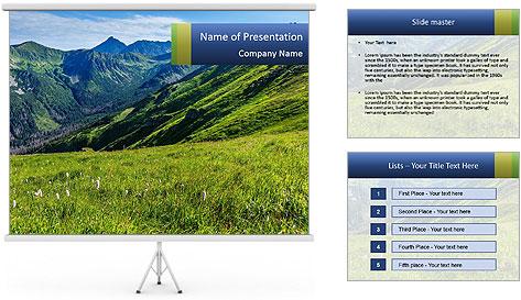 Green Rocks PowerPoint Template