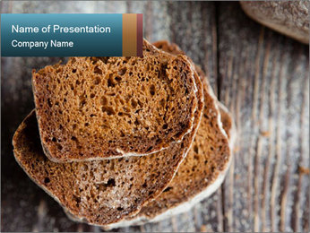 Organic Brown Bread PowerPoint Templates - Slide 1