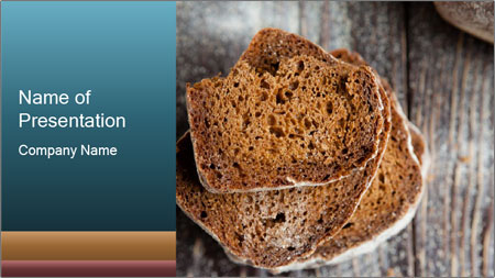 Organic Brown Bread PowerPoint Template