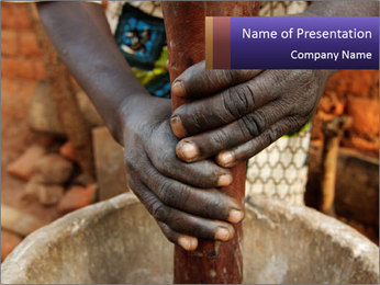 Working African People PowerPoint Template - Slide 1