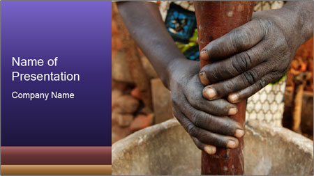 Working African People PowerPoint Template
