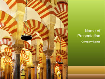 Antient Archway PowerPoint Template - Slide 1