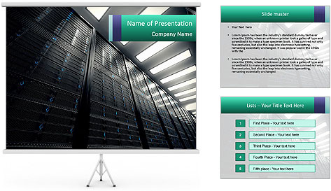 Big Server Room PowerPoint Template